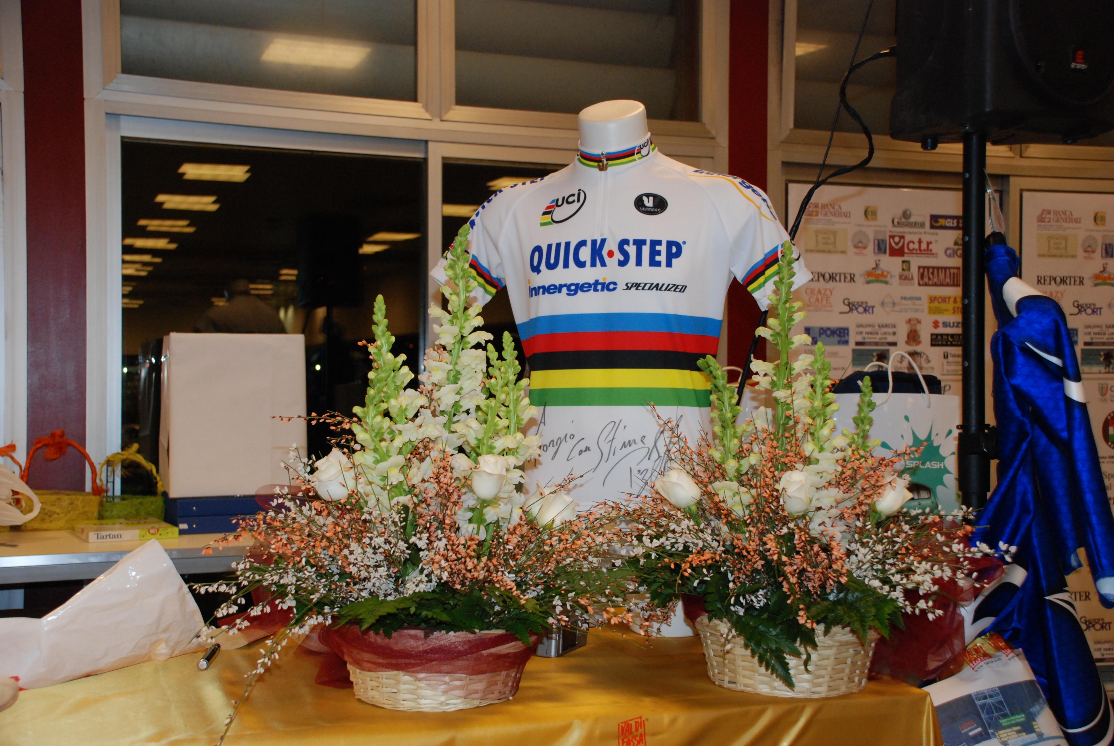 Gala maglia Bettini campione del mondo ciclismo per asta