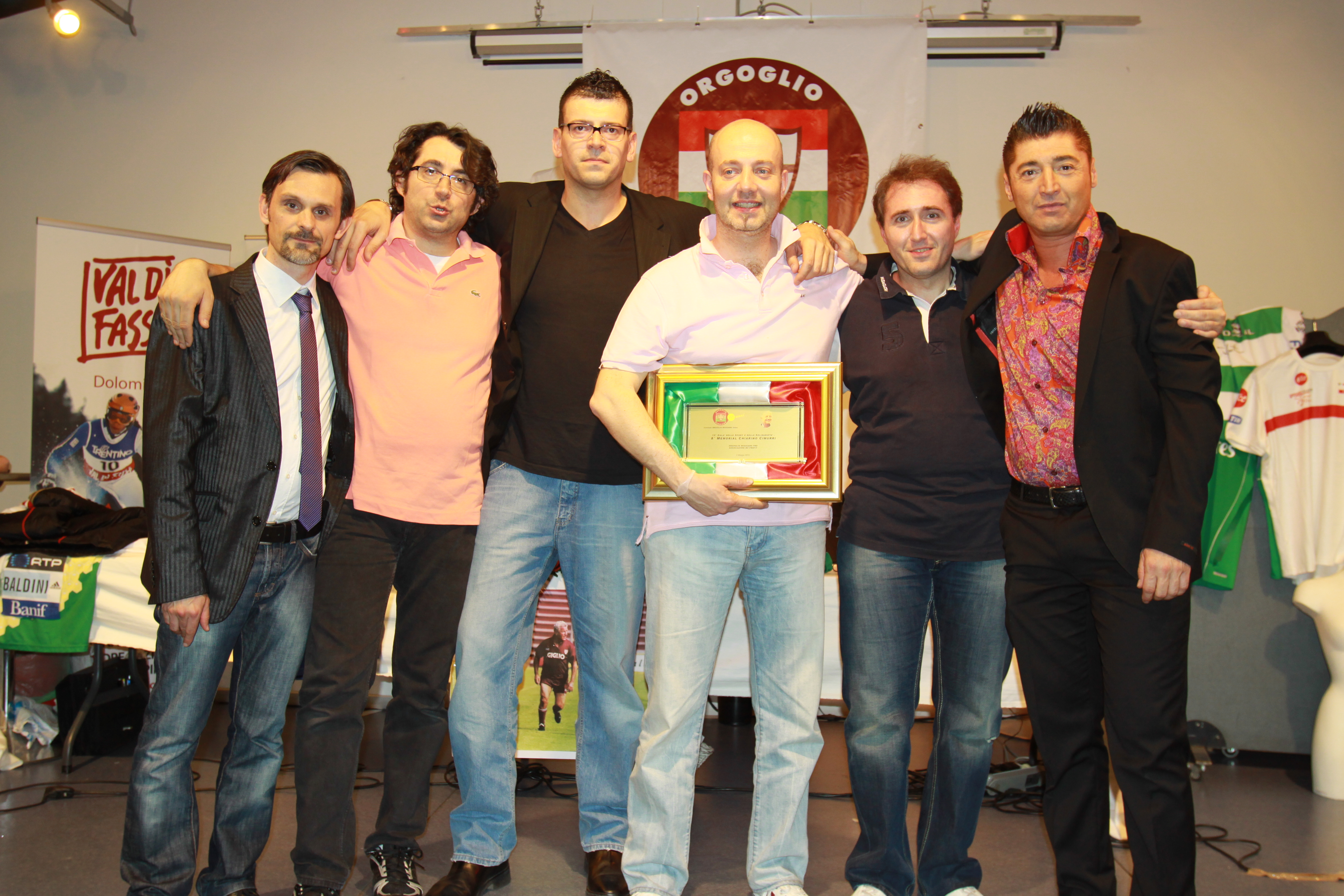 Gala dello sport consegna Memorial Cimurri a Max Menetti coach pall.Reggiana