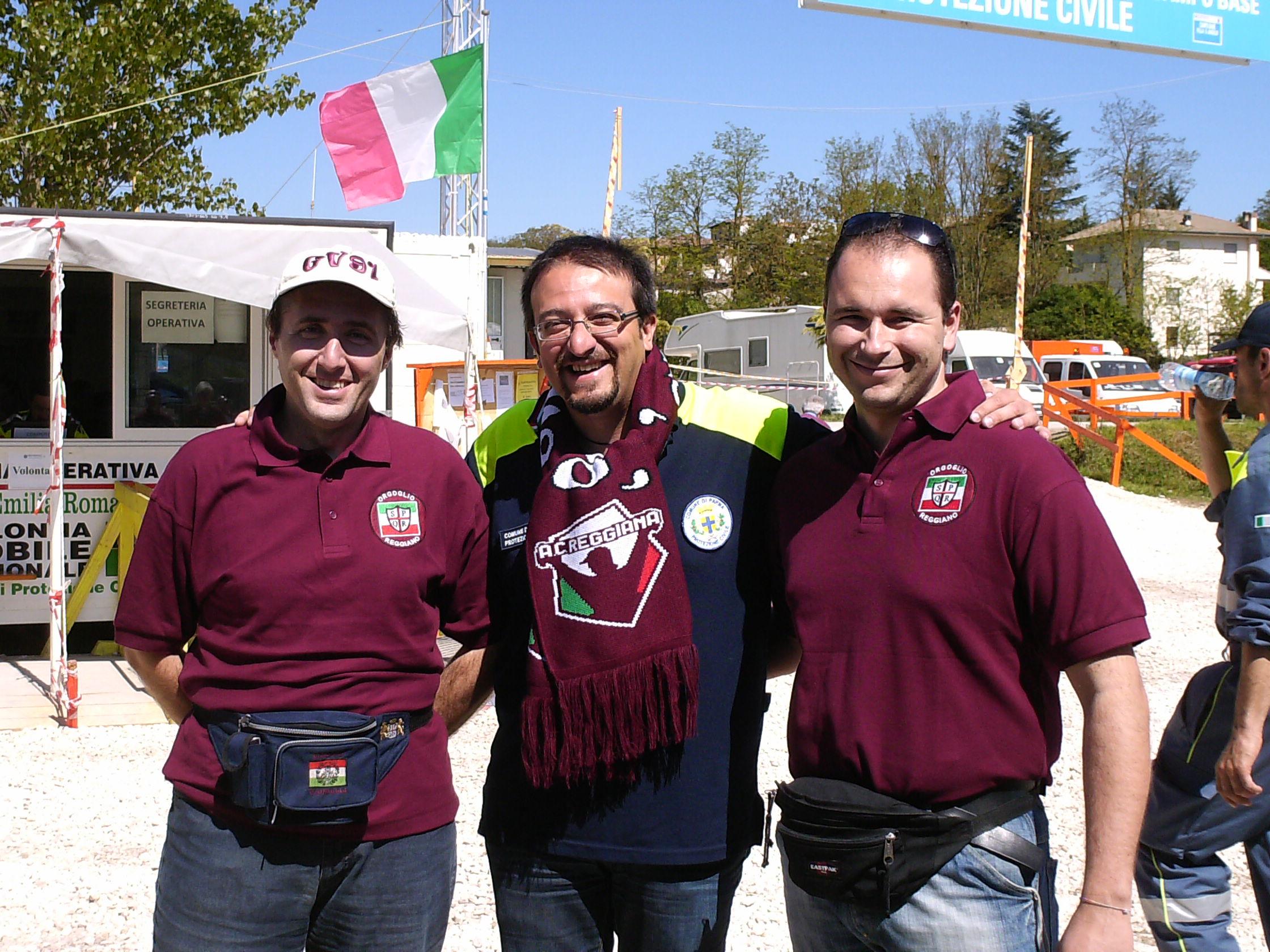 il sindaco di Villa sant'Angelo ringrazia O.R. per aiuti sisma