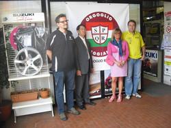 Kumatachi pres.di Suzuki italia visita Sivar car2 e O.R. per la raccolta aiuti pro terremoto emilia