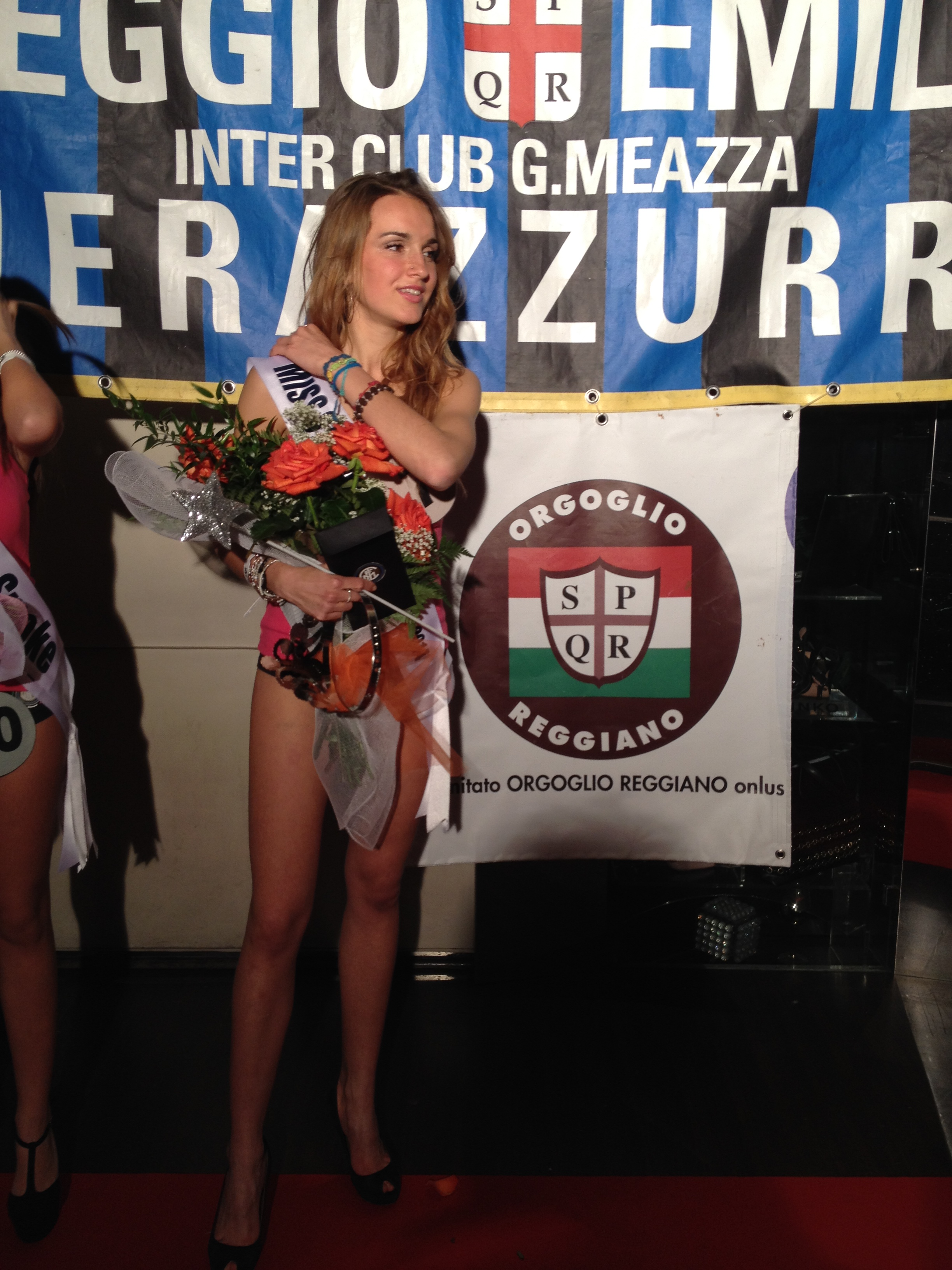 Partner di miss Italia nerazzurra al Sali e Tabacchi