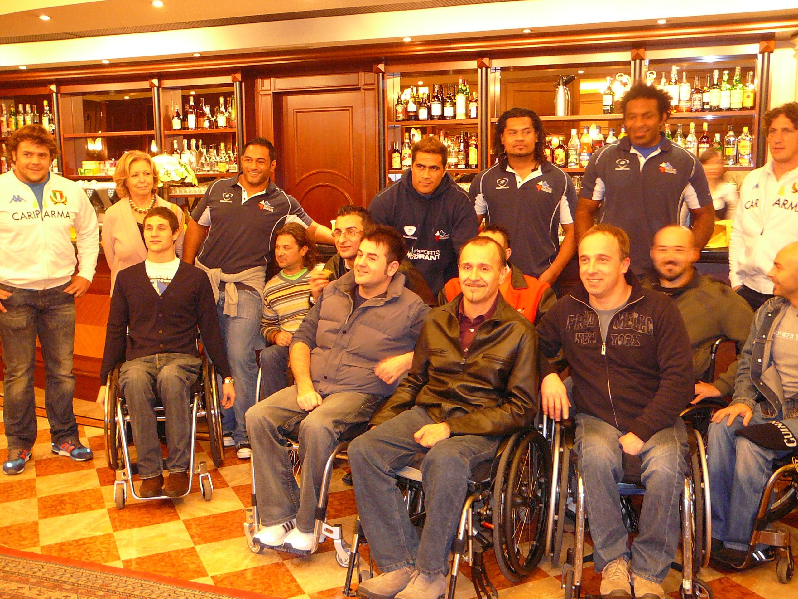 Cena pro C.i.p. con Nazionale italiana rugby e Pacific Islanders (nella foto il cap. Locicero ,Azzol