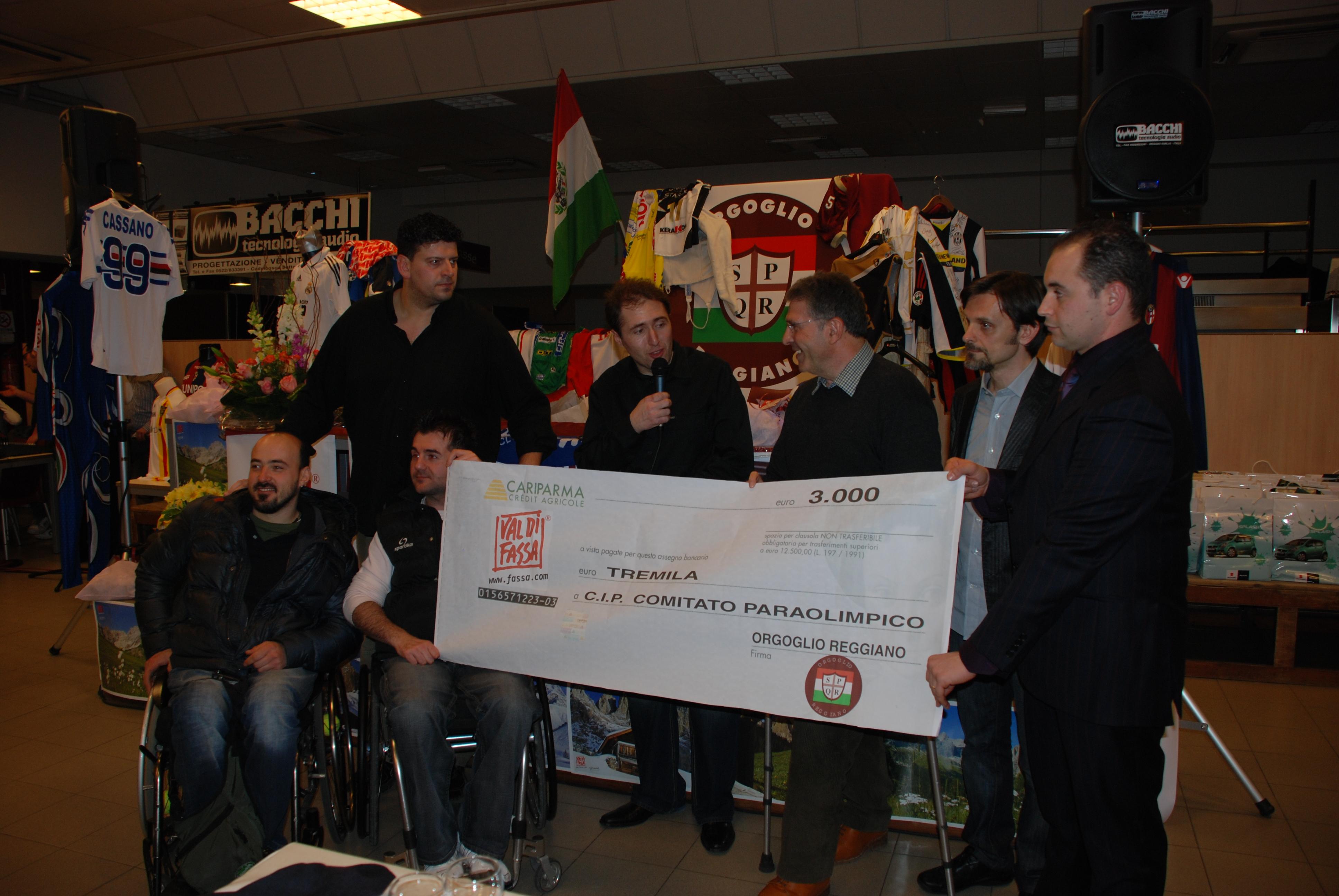 Gala dello Sport consegna raccolta fondi al Ci.p.