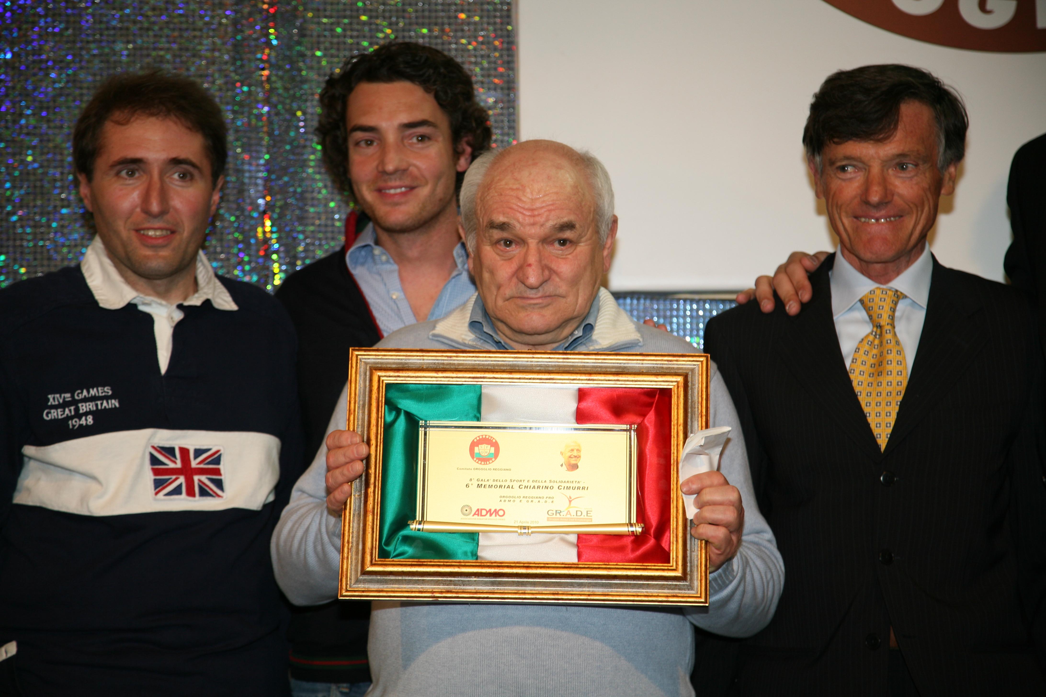 Gala consegna memorial Cimurri a Simonazzi