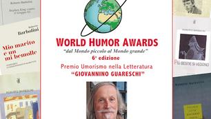 PREMIO PER L'UMORISMO IN LETTERATURA APRE L'EDIZIONE 2021 DEI WORLD HUMOR AWARDS