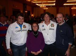 cena rugby .A.Locicero e M.Bergamasco