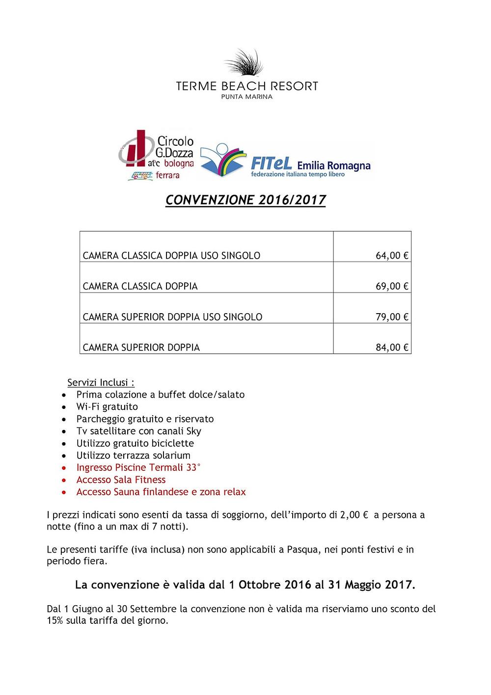 Convenzione Terme Beach Resort (Punta Marina)