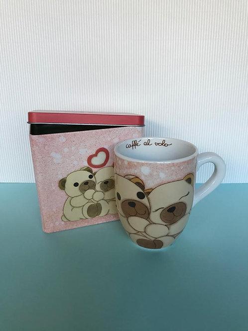 Mug con scatola in latta Tell Me Your Love Thun