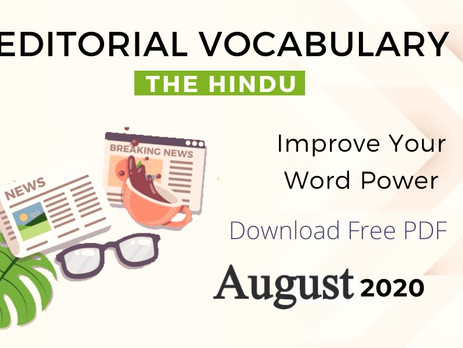 August month complete The Hindu vocabulary { PDF}