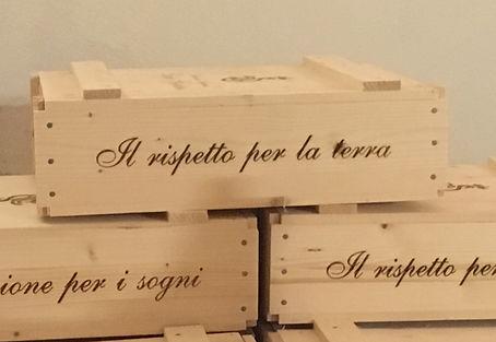 Italienienische Weinkisten in Italien