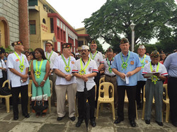 District 7 Members and Cdr LarryS turnover of Bell in Bauang La Union
