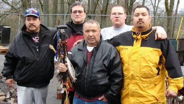 Comrade John Lagrew with his tribe powwow
