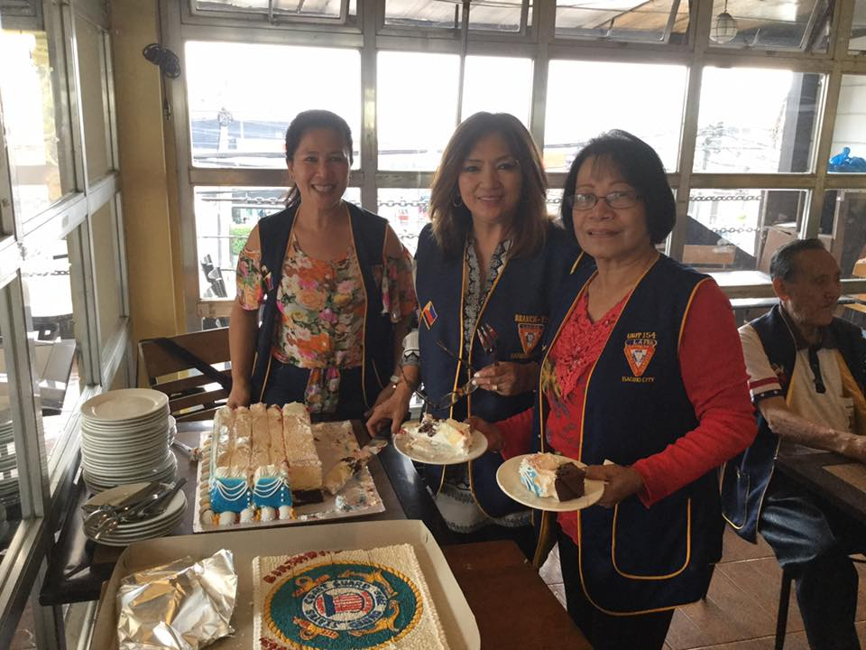 LAFRA Ladies Celebrating US Coast Guard Birthday
