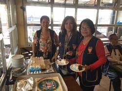 LAFRA Ladies Celebrating US Coast Guard Birthday