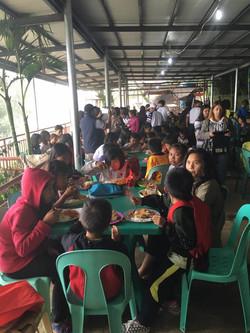 Orphans eating