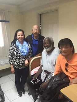Cdr LarryS and Comrade JPulmano visiting USAF Veteran at the hospital