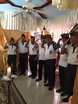 VFW Members saluting Comrade Ortiguero's Wake