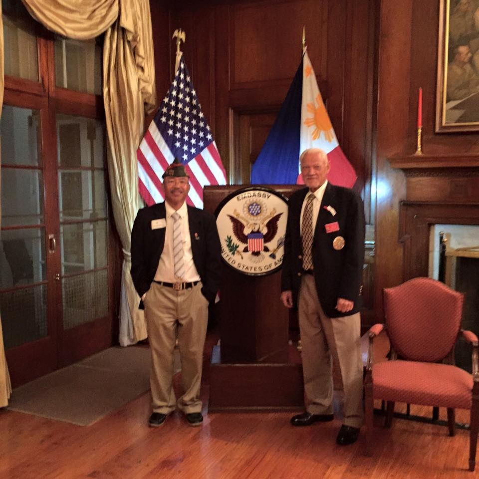 Cdr LarryS and District7 Cdr John Gilbert US Ambassadors House