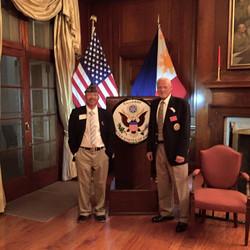 Cdr LarryS and District7 Cdr John Gilbert US Ambassadors House