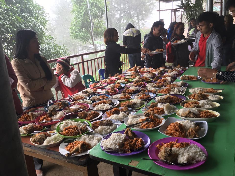 Food to be serve to the orphans