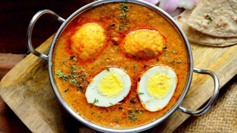 ゆで卵と野菜のカレー セット