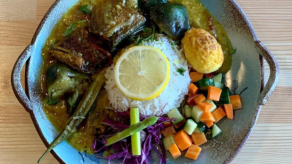 鯖と野菜のジョルカレー&ライスセット