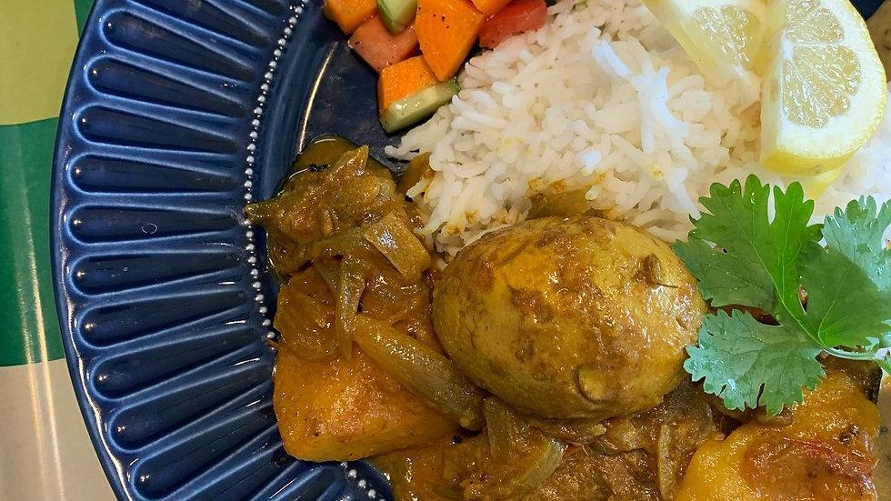 ゆで卵とジャガイモのダルナ (250g)
