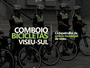 Ciclopatrulha da Policia Municipal de Viseu acompanha Comboio de Bicicletas