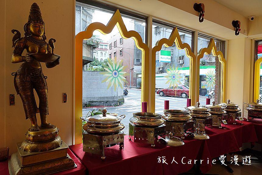 Buffet setup at Mayur Indian Kitchen, Taipei