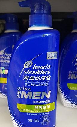 head&shoulders MEN anti-dandruff shampoo 750ml 男士洗髮精