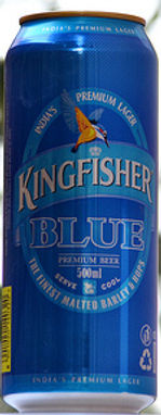 Indian number 1 premium beer Kingfisher at Mayur Indian Kitchen in Taipei 印度的最好啤酒馬友友印度廚房台北