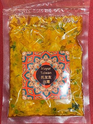 椰奶腰果蔬食咖哩(無蔬菜) 150gm Veg. Korma (vegetables cashewnut curry without vegetables)
