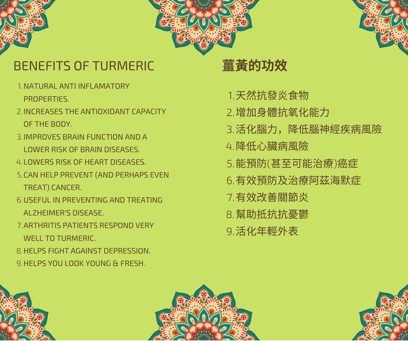 薑黃 Turmeric spice in Taiwan