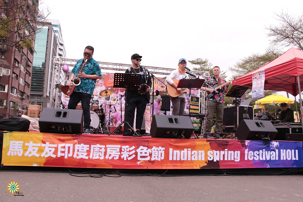 The Interns Live Band sponsored by Mojo Music at Holi in Taipei 2019