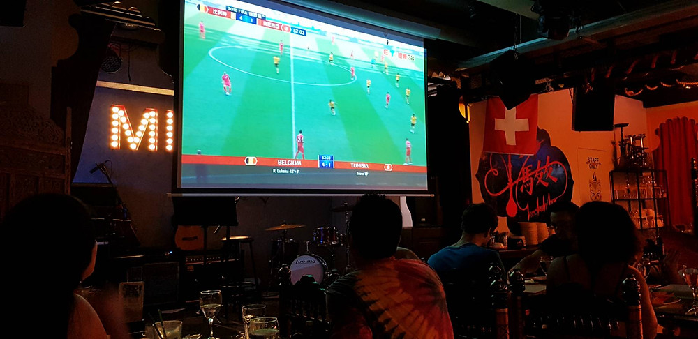 Enjoy the Live sports in Taipei, Taiwan while dining