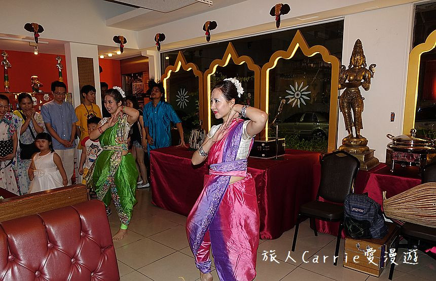 Bollywood dance performance by Taiwanese dancers at Mayur Indian Kitchen, Taipei
