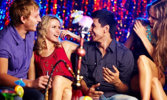 Friends Enjoying Shisha/ Hookah at MIK-6 live house & shisha bar