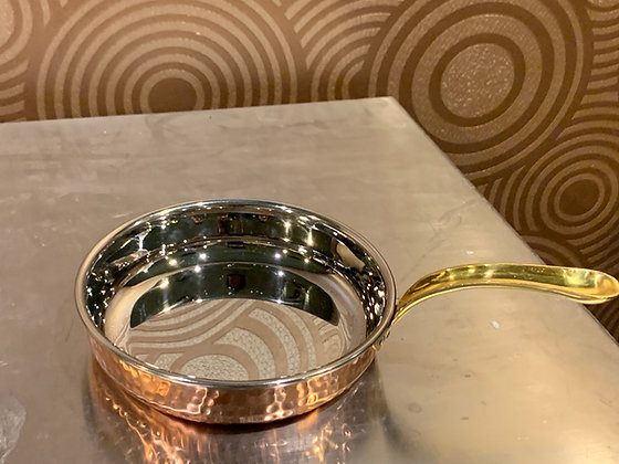 Copper curry bowl with golden painted handle 銅製咖哩碗附帶金漆手柄