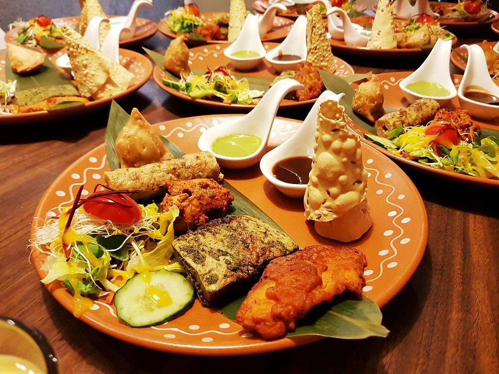 Dinner set menu at Mayur Indian Kitchen's ODC event