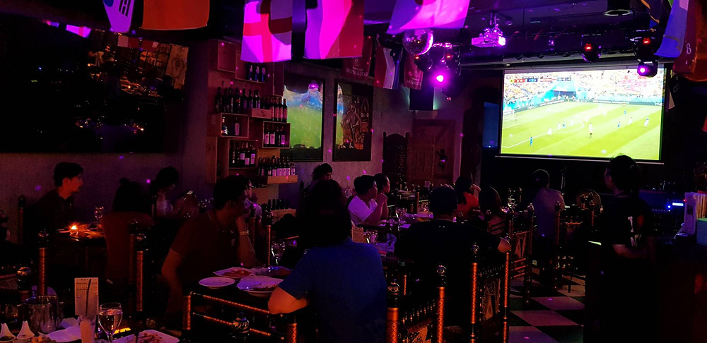 People Watching Live Sports at MIK-6 in Taipei
