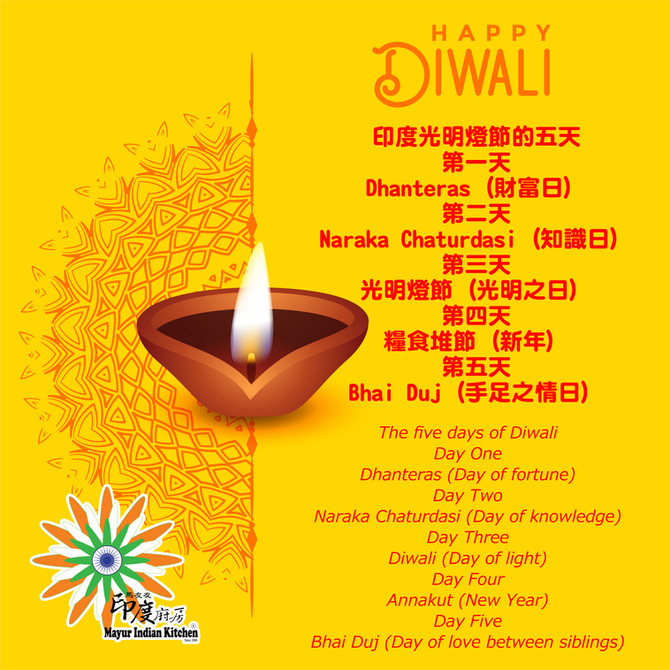馬友友印度廚房歡慶印度光明燈節, Happy wali diwali at Mayur Indian Kitchen