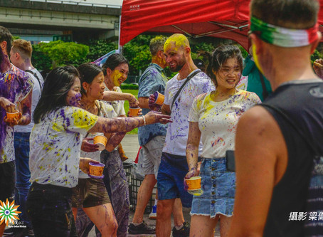 台灣舉辦世界上唯一的好麗節 Taiwan holds only Holi festival in world