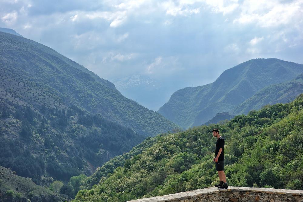 Hiking in Prizren, Kosovo.