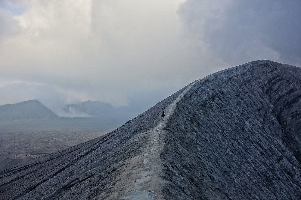 A photo from the crater Mount Bromo in Indonesia.