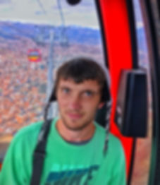 Me on a cable car in La Paz