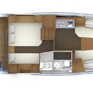 Interior Layout - Cap Camarat 12.5 WA Je