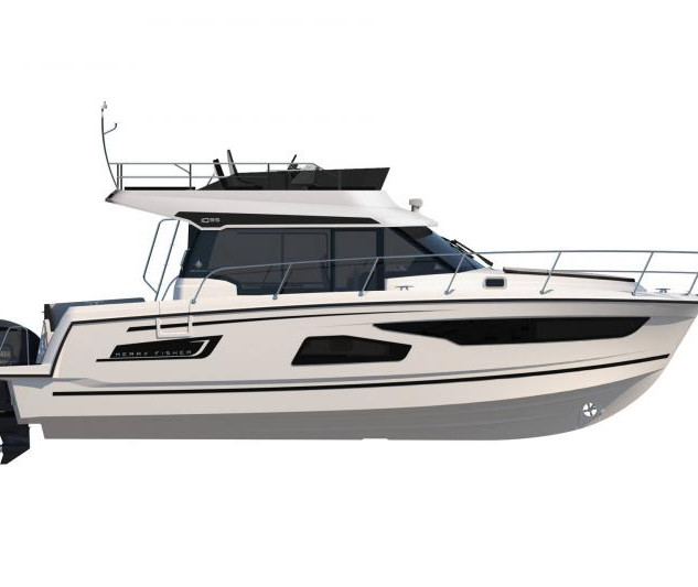 Merry Fisher 1095 Flybridge white hull.j