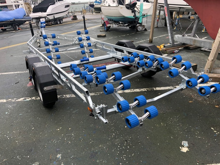 A new range of boat trailers available from Atlantic yachts