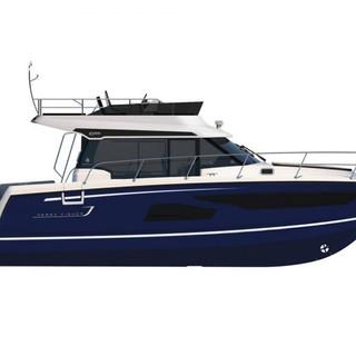 Merry Fisher 1095 Flybridge blue hull.jp