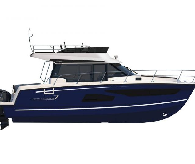 Merry Fisher 1095 Flybridge blue hull.jp